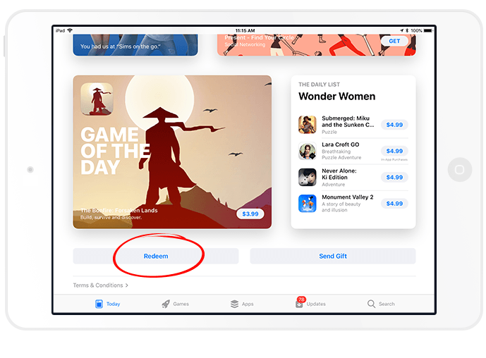How to Redeem an App Store Promo Code on your iPad | Little