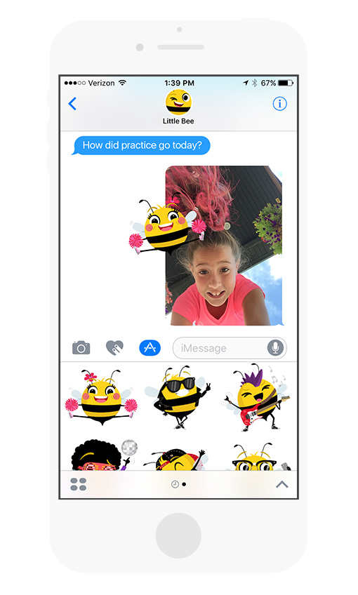 New Beemoji Stickers for iOS 10 from Little Bee Speech