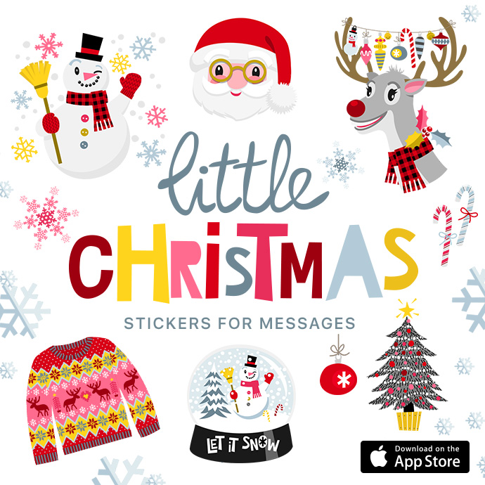 Christmas Stickers.Little Christmas Stickers For Your Messages In Ios 10