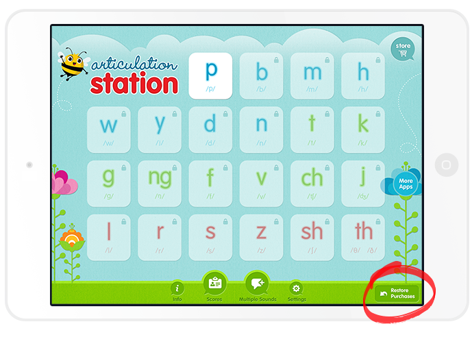How to Restore Purchases in Articulation Station | Little