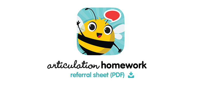 Articulation Station Homework Referral Sheet (PDF)