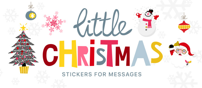 Little Christmas Stickers App for iOS 10 - Available on the Apple App Store!