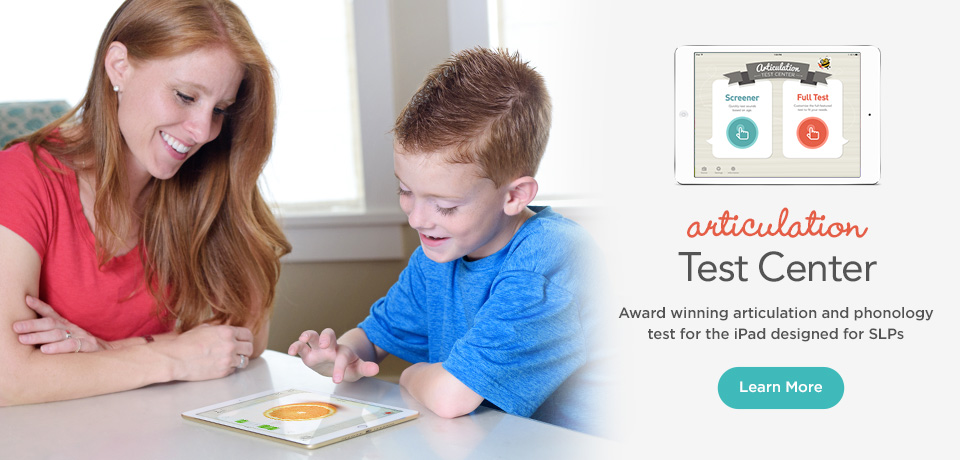 Articulation Test Center - Award Winning articulation and Phonology Test for the iPad designed for SLP's