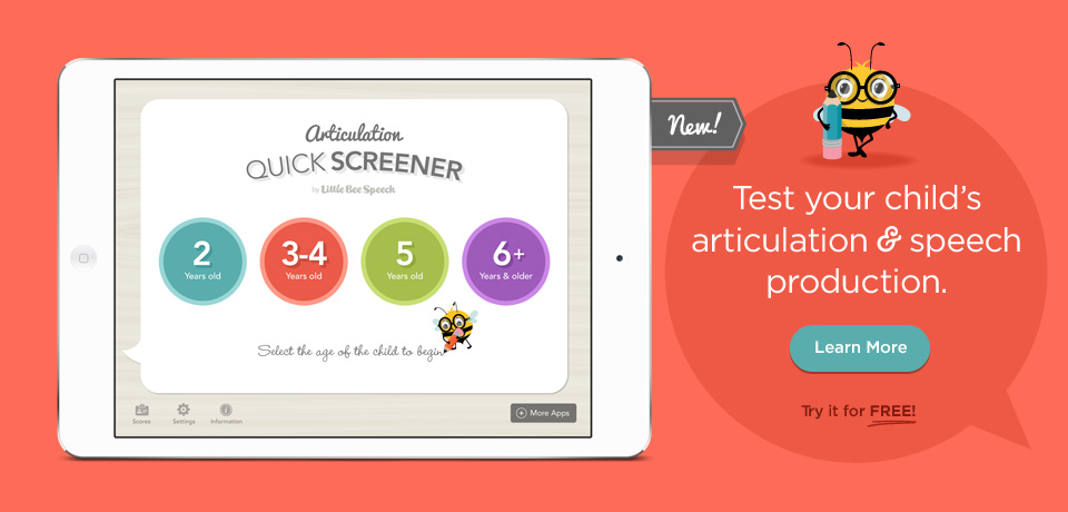 Articulation Quick Screener - Test your childs articulation and speech production