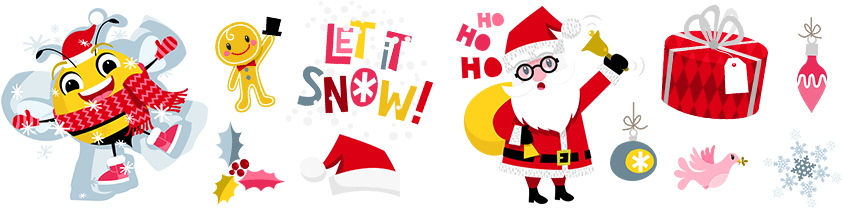 Little Christmas stickers for iOS 10 Messages